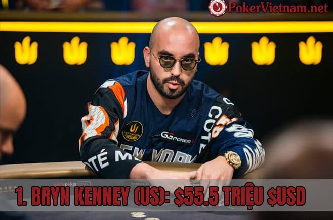 Bryn kenney, cao thủ poker chuyên nghiệp, chơi poker chuyên nghiệp, chơi game bài Poker kiếm tiền thật