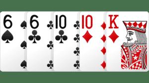 Hai đôi, two pair, bài hai đôi, poker hai đôi,