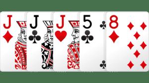 bộ ba, set là gì, set poker là gì, poker set là gì, bài poker bộ ba
