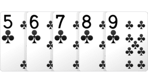 thùng sảnh, straight flush poker, straight flush,