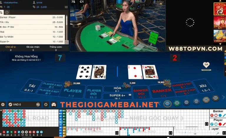 baccarat online, baccarat w88, game đánh bài đổi thưởng, đánh bài đổi thưởng, baccarat online đổi thưởng tiền thật tại sòng bài w88 uy tín